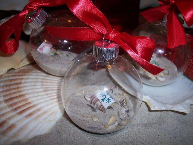 seashell ball christmas ornament
